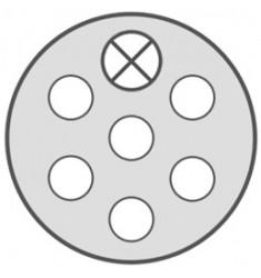 CORDON 7 PÔLES SPIRALEE 24V (SERIE S) 3M M-M METAL