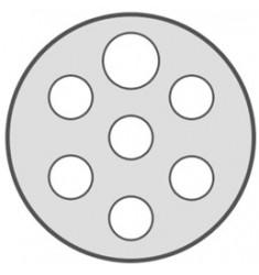 CORDON 7 PÔLES SPIRALEE 24V (SERIE N) 3M M-M METAL