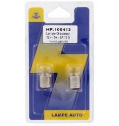 BLISTER 2 LAMPES GRAISSEURS R5W 12V 5W