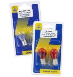 BLISTER 2 LAMPES P21W 12V 21W