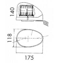 Gyrophare Goutte d'Eau 12V - Magnétique