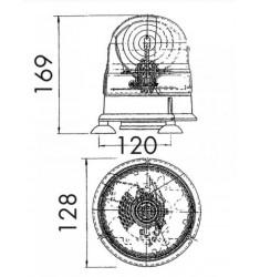 Gyrophare Véga 12/24V - Magnétique