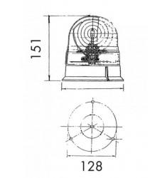 Gyrophare Véga 12/24V - Fixation par vis