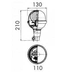 Gyrophare Saturnello 12/24V et 12V - Flexible