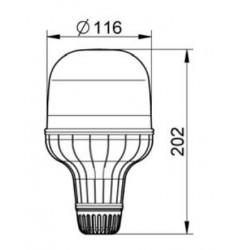 Gyrophare Eurorot SIRENA 12/24V 21W- Flexible