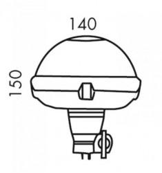 Gyrophare Ellipse LED 10V à 30V - Flexible