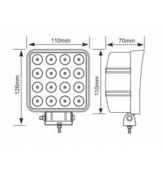 Projecteur de travail LED Carré 48W