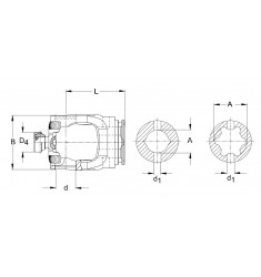 Mâchoire de tube JDH 80° Série P