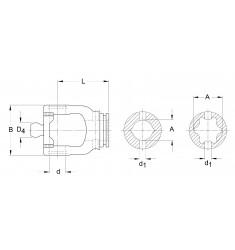 Mâchoire de tube JDH 80° Série W