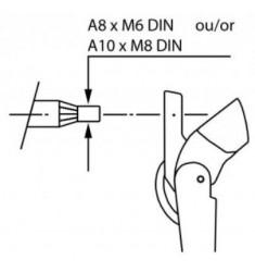 Bras d'essuie-glace pantographes ajustables type 12