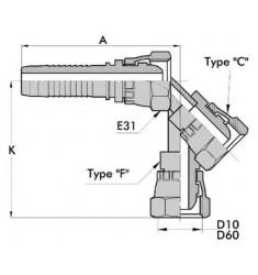 FSP : Femelle BSP Droit/Coudé 45°/90° série CSER