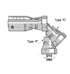 FJ : Femelle JIC Droit/Coudé 45°/90° série SN