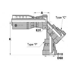 FSP : Femelle BSP Droit/Coudé 45°/90° série SN
