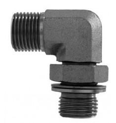 MBSP - MGCYOR F : Adapteur Coudé 90° Mâle BSP x Mâle Gaz Cylindrique + O RING ORIENTABLE