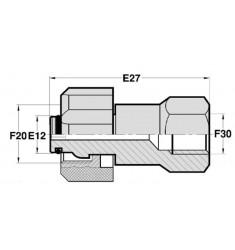 FKA - FGCY : Adapteur Femelle type KARCHER tournant x Femelle GAZ CYLINDRIQUE FIXE
