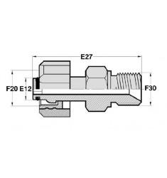 FKA - MSPC : Adapteur Femelle type KARCHER tournant x Mâle BSP