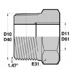MGCO - FGCY : Adapteur Mâle Gaz Conique x Femelle Mâle Gaz Cylindrique