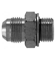 MJ - MGCYOR : Adapteur Droit Mâle JIC x Mâle Gaz Cylindrique + O RING