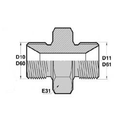 MBSP CT - MBSP CT : Adapteur Droit Mâle BSP + portée de joint x Mâle BSP + portée de joint
