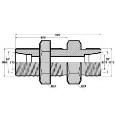 MTG - MTG PC : Passe Cloison Mâle pour tube GAZ