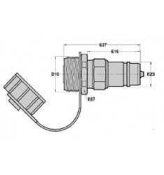 Valve ARELCO côté Tracteur x Coupleur 1/2 Mâle
