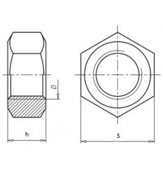 Ecrous Haut 8.8 ISO 4033 Pas Fin Brut