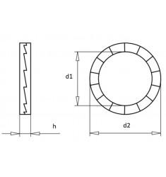 Rondelles de blocage Nord-Lock DIN 25201