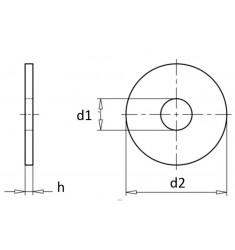 Rondelles Plates Moyennes M Inox A2