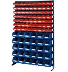 Support mural avec 90 (63+30) boîtes de rangement