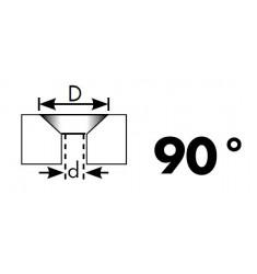 Jeu de 6 Forets Etagés à Fraiser (90°) HSS-Co 5%