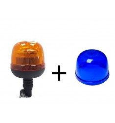 Gyrophare 12/24V Flash LED - Flexible Bleu
