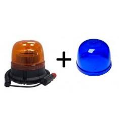 Gyrophare 12/24V Flash LED - Magnétique Bleu