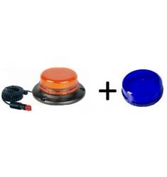 Gyrophare 12/24V LED Rotatif ULTRA PLAT- Magnétique Bleu