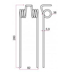 Dent rateau Adaptable IH 13553 GA